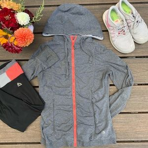 Active Ruched Zip-Up